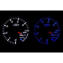 PRO RACING GAUGE 52mm  - Olajnyomás Kék&FEHÉR